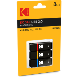 Kodak USB2.0 K100 8GB 3-Pack